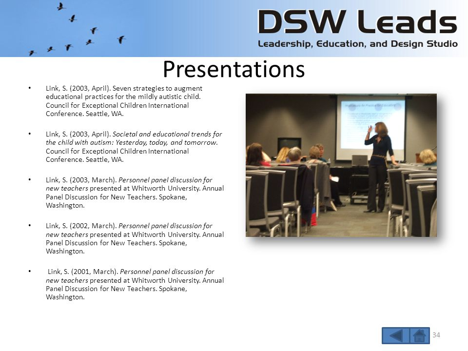 Presentations Link, S. (2008, June). Autism 101 – A Guide for School Administrators.