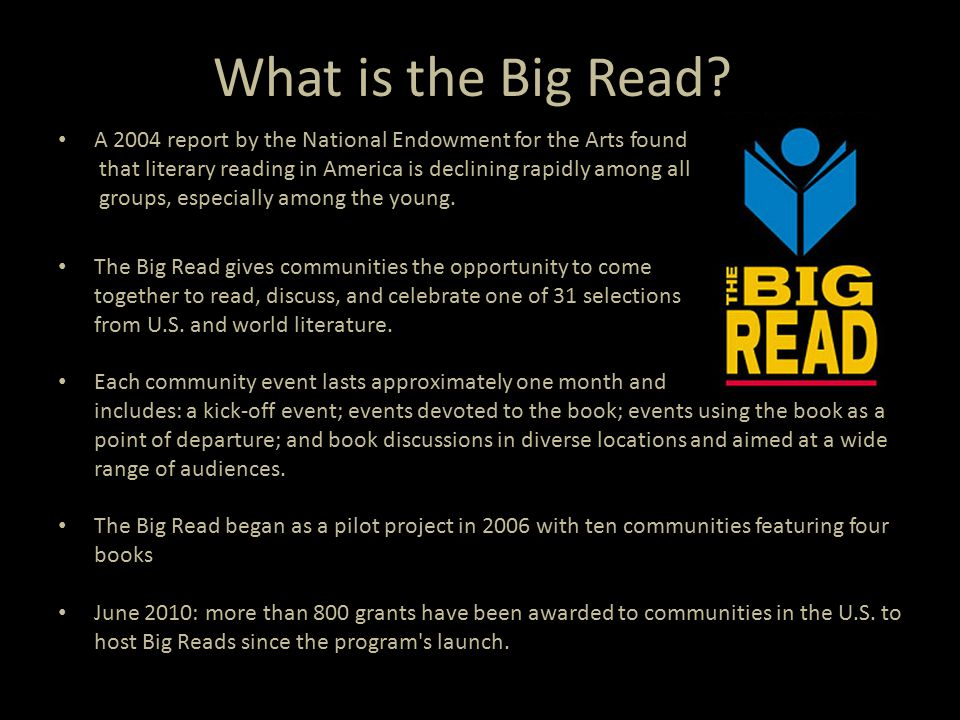 What is the Big Read.