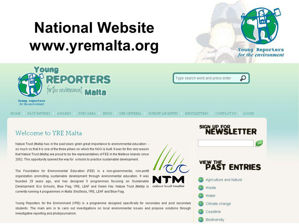 National Website www.yremalta.org 27