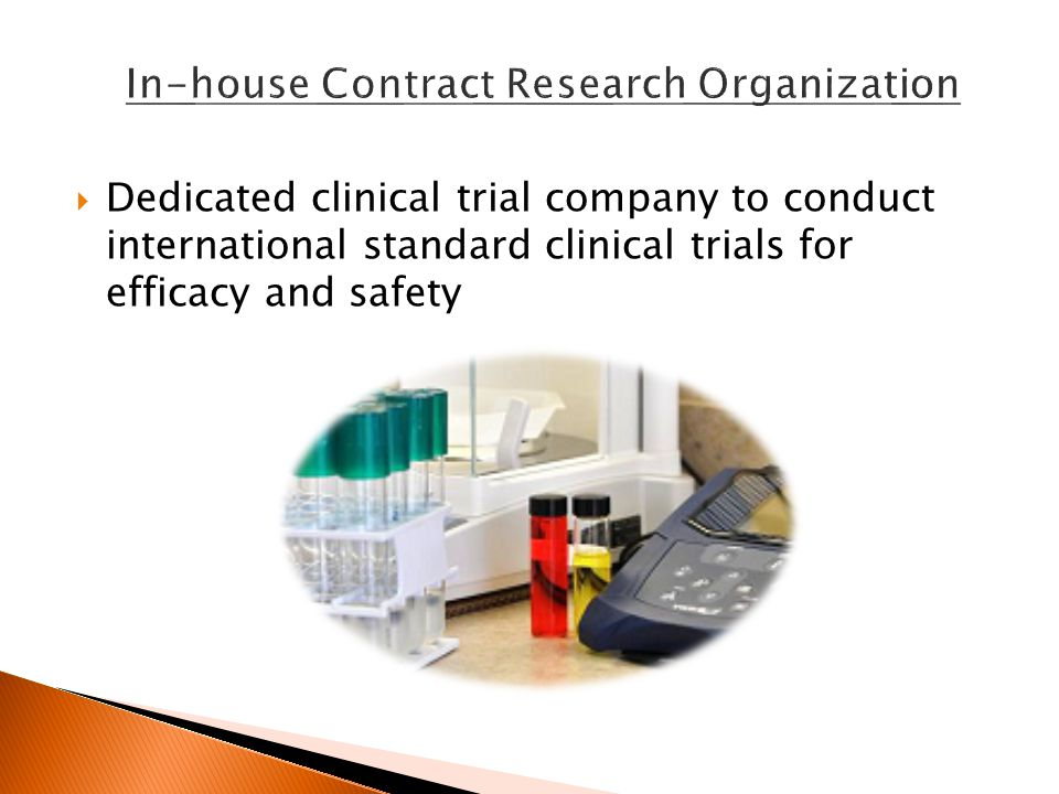  Dedicated clinical trial company to conduct international standard clinical trials for efficacy and safety