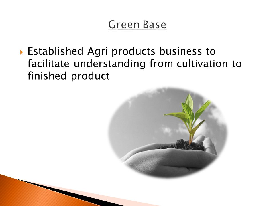  Established Agri products business to facilitate understanding from cultivation to finished product