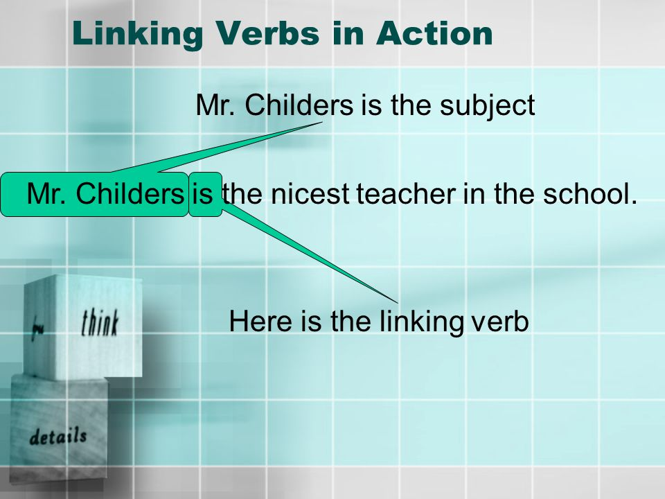 Try It Online To further check your understanding of linking verbs click here to take an online quiz.here To study more about linking verbs, check out this website.this website