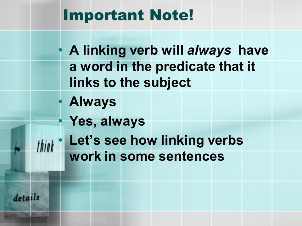 Need Another Clue There is a way to find out if the word you are looking at is a linking verb or not Are you ready to find out what it is.
