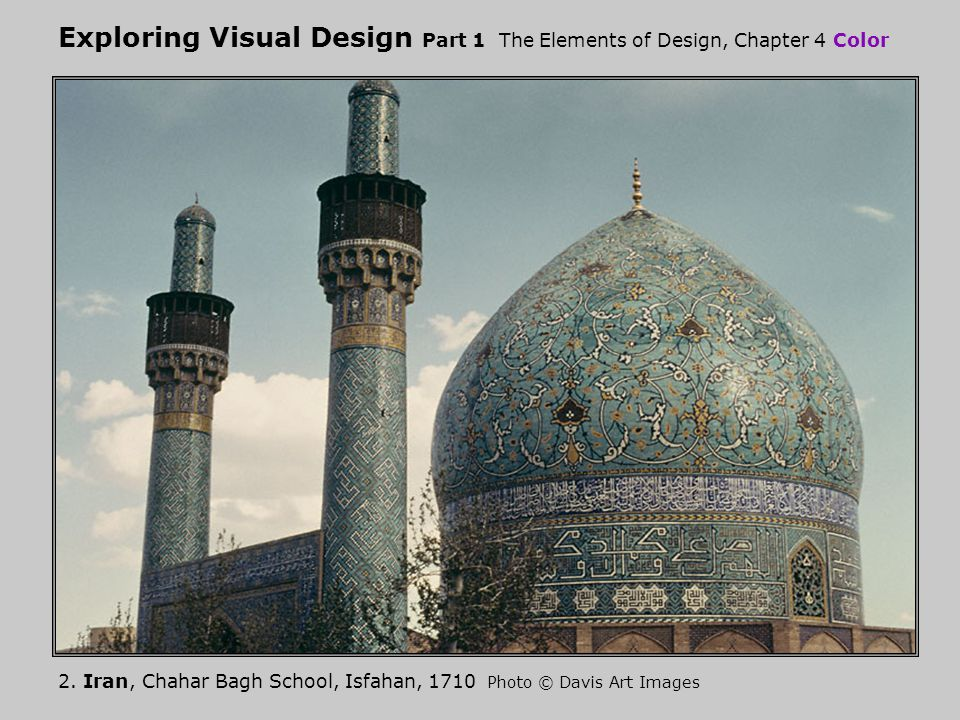 Exploring Visual Design Part 1 The Elements of Design Chapter 4 Color Hue: analogous colors 13.