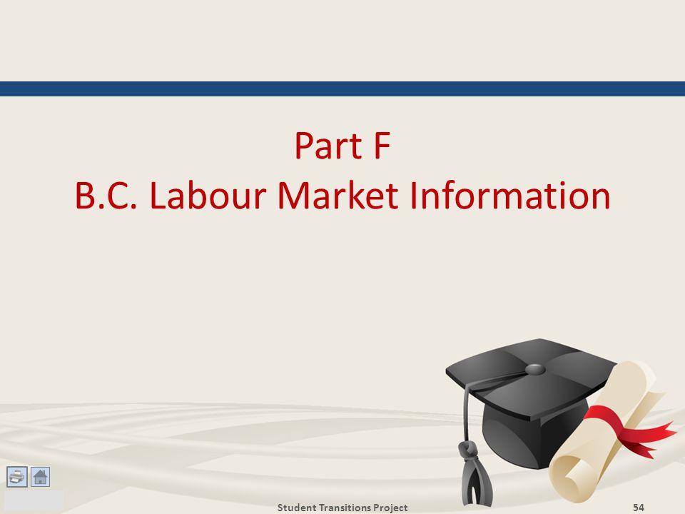 Part F B.C. Labour Market Information Student Transitions Project54