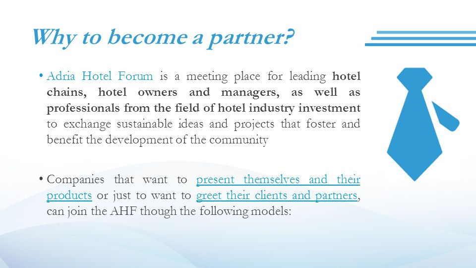 Why to become a partner.