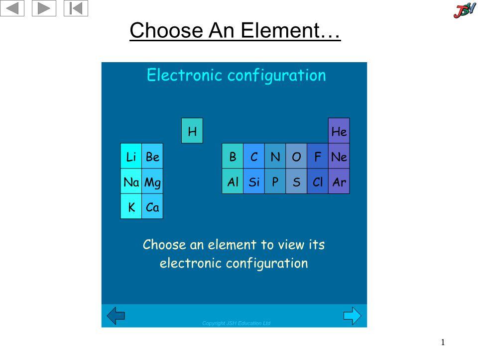 1 Choose An Element…