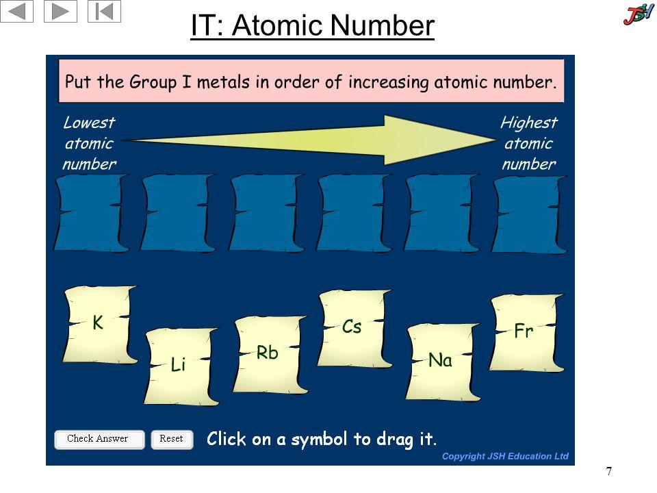 7 IT: Atomic Number
