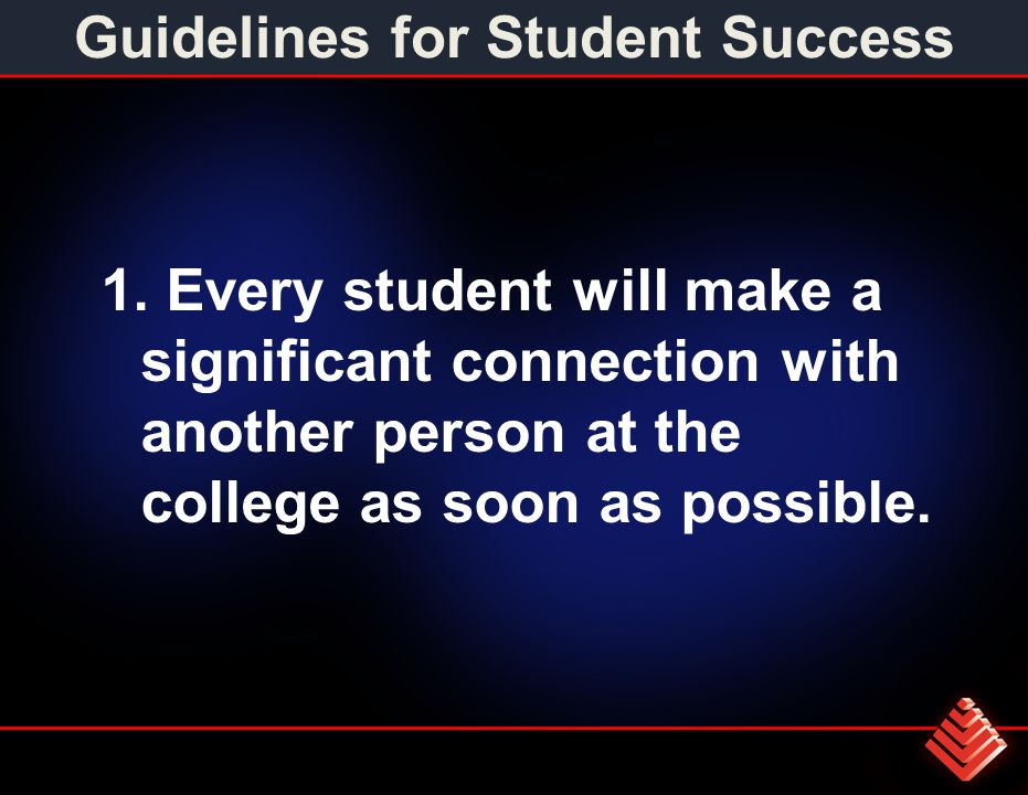 Guidelines for Student Success 1.