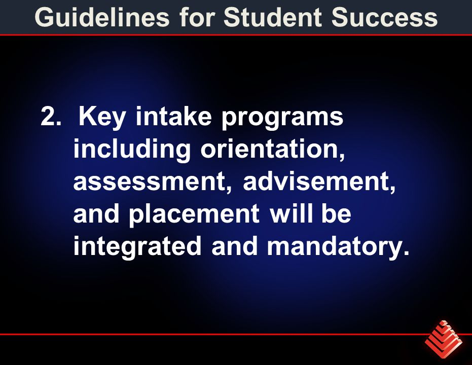 Guidelines for Student Success 2.