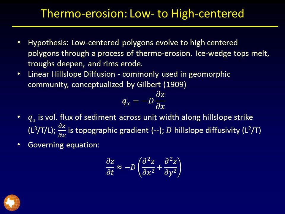 Thermo-erosion: Low- to High-centered