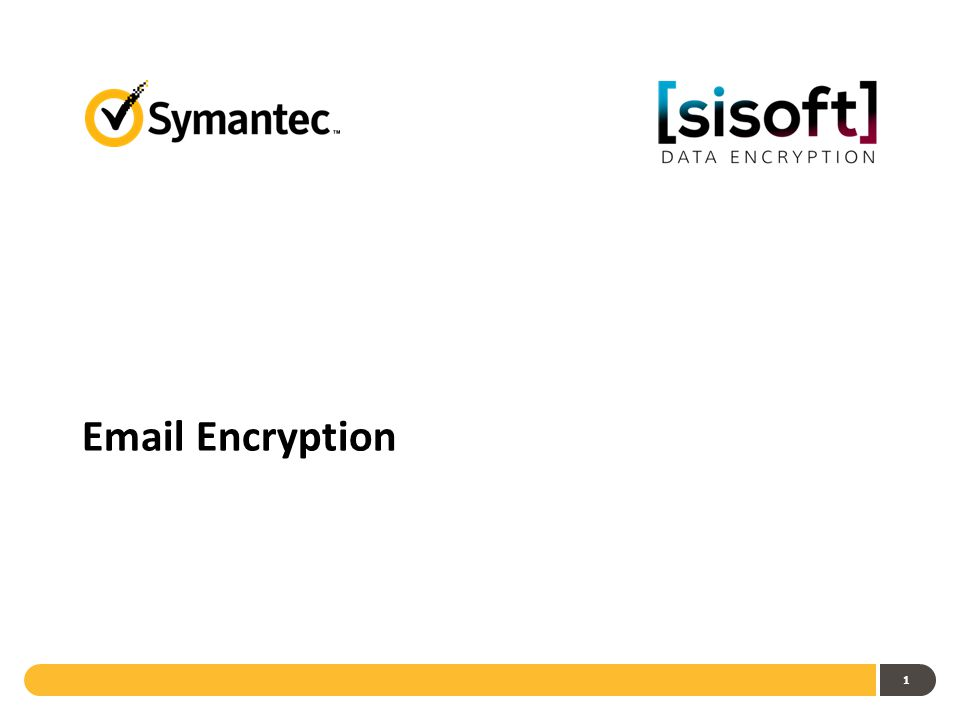 1 Email Encryption