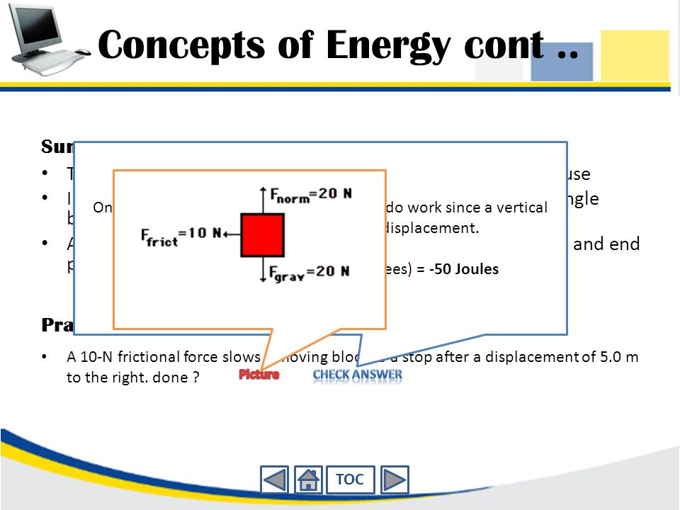 Concepts of Energy cont..