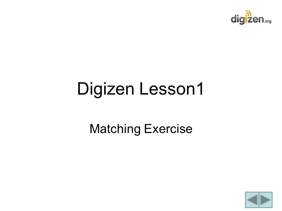 Matching Exercise Digizen Lesson1
