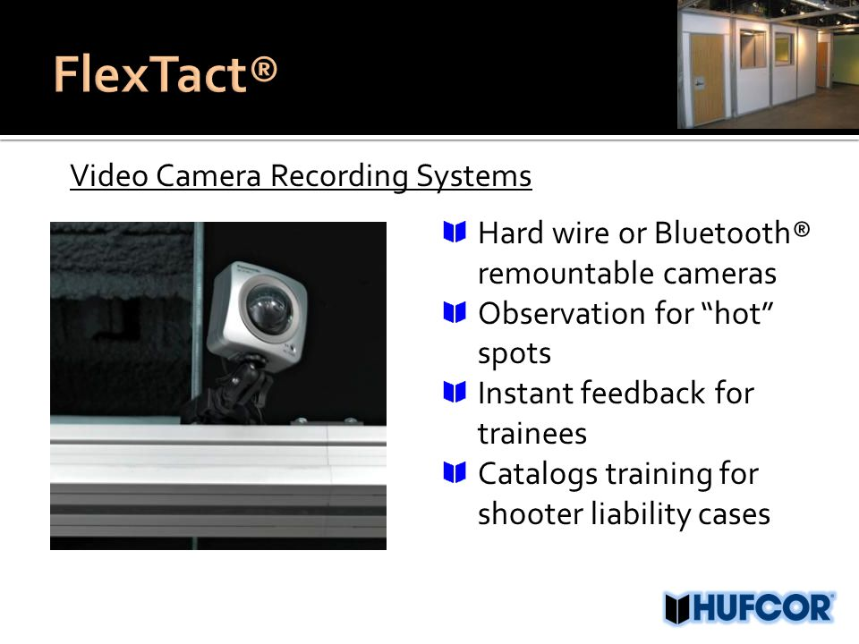 """Video Camera Recording Systems Hard wire or Bluetooth® remountable cameras Observation for """"hot"""" spots Instant feedback for trainees Catalogs training"""