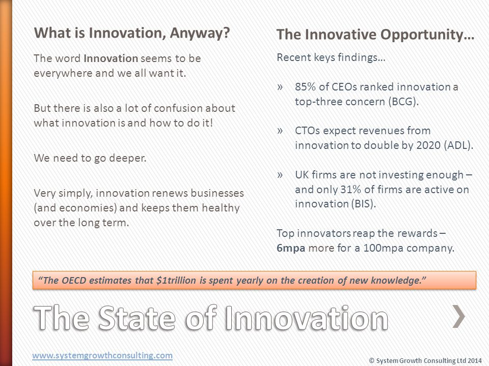 What is Innovation, Anyway? The Innovative Opportunity… The word Innovation seems to be everywhere and we all want it. But there is also a lot of conf