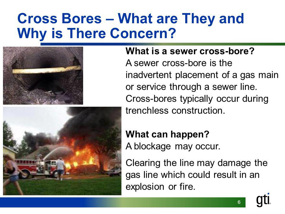 77 Types of Cross Bores Legacy Cross Bores >Cross bore events that currently exist due to previous installations.