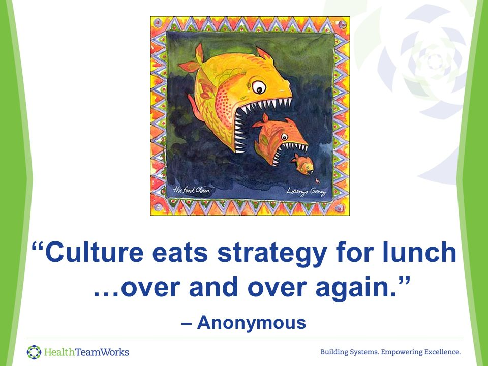 Culture eats strategy for lunch …over and over again. – Anonymous