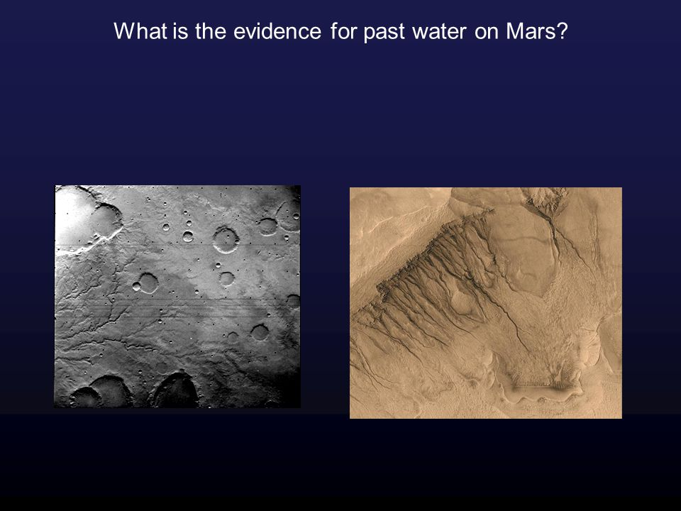 What is the evidence for past water on Mars