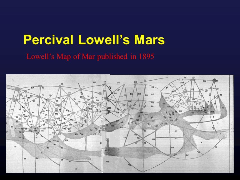 Percival Lowell's Mars Lowell's Map of Mar published in 1895