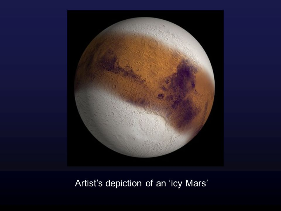 Artist's depiction of an 'icy Mars'