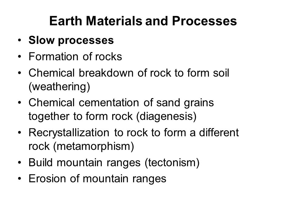 Earth Materials and Processes Fast Processes Beach erosion during a storm.