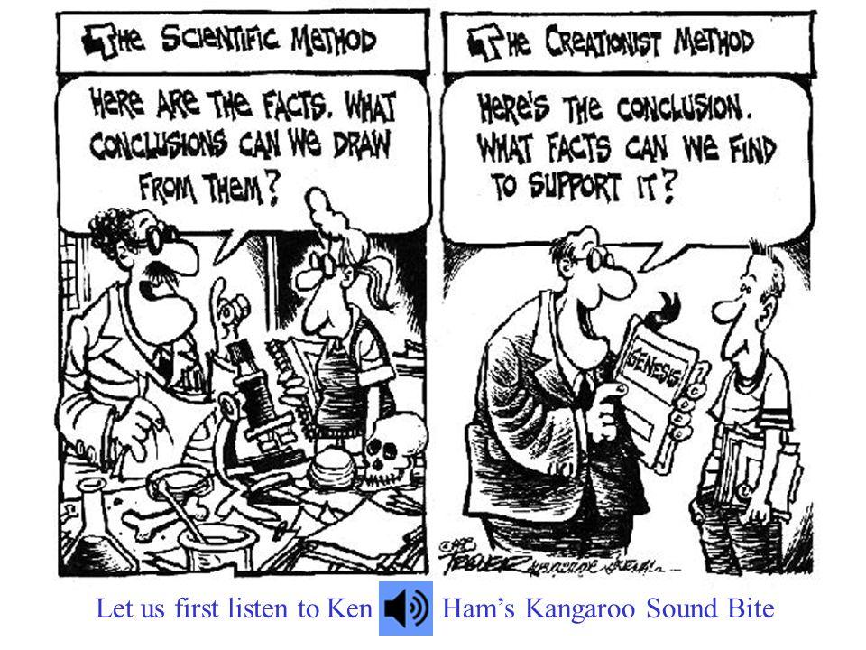 Let us first listen to KenHam's Kangaroo Sound Bite