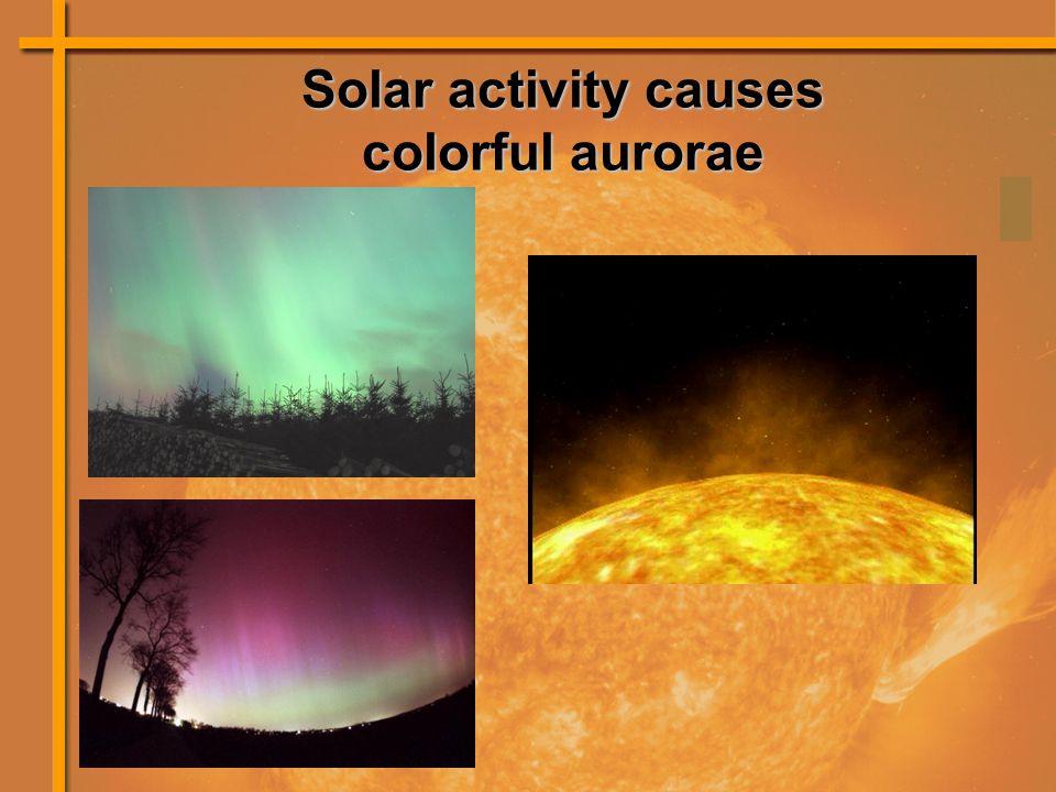 Solar activity causes colorful aurorae