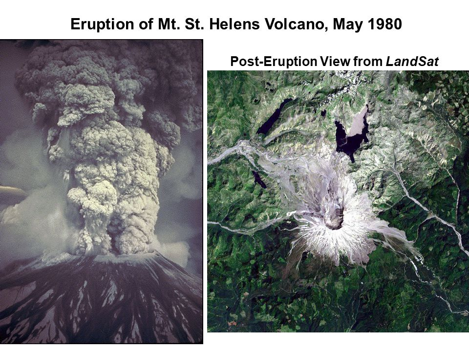 Eruption of Mt. St. Helens Volcano, May 1980 Post-Eruption View from LandSat