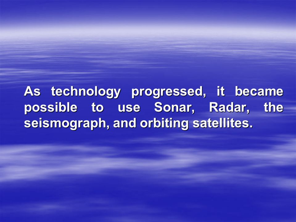 SONAR SONAR is an acronym for SOund NAvigation and R anging.