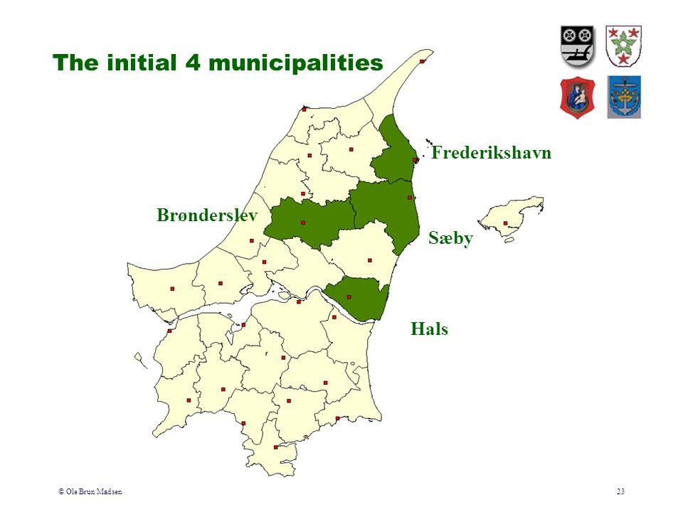 © Ole Brun Madsen23 The initial 4 municipalities Brønderslev Hals Sæby Frederikshavn