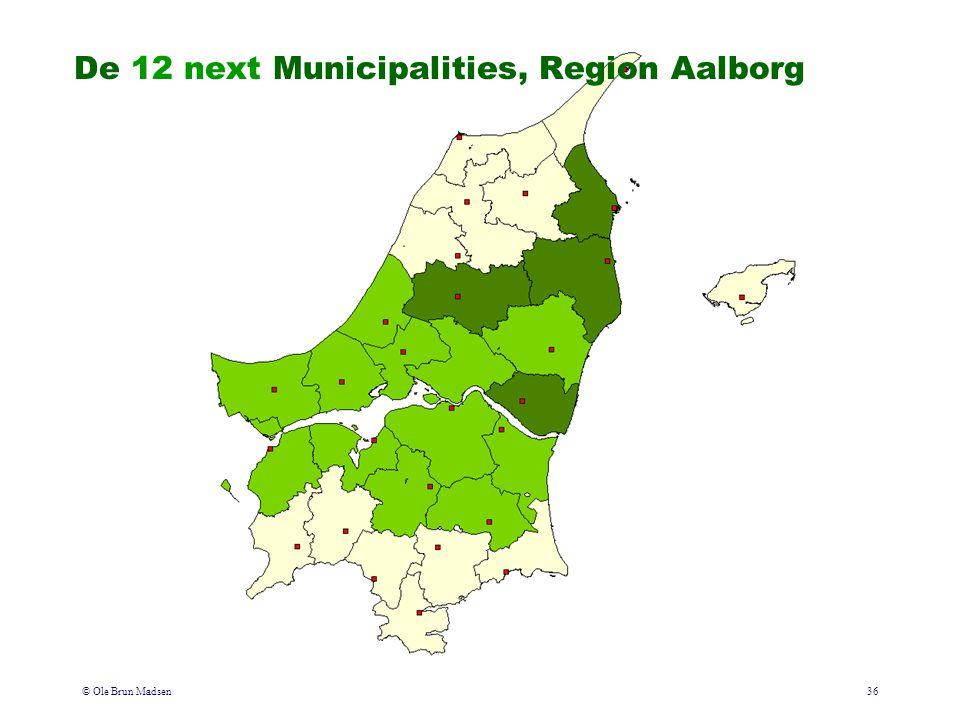 © Ole Brun Madsen36 De 12 next Municipalities, Region Aalborg