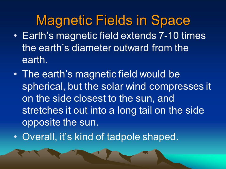 Strange Things Going On Earth's magnetic field is NOT aligned with its rotational axis. The magnetic field is tilted 12 o to the rotational axis, and