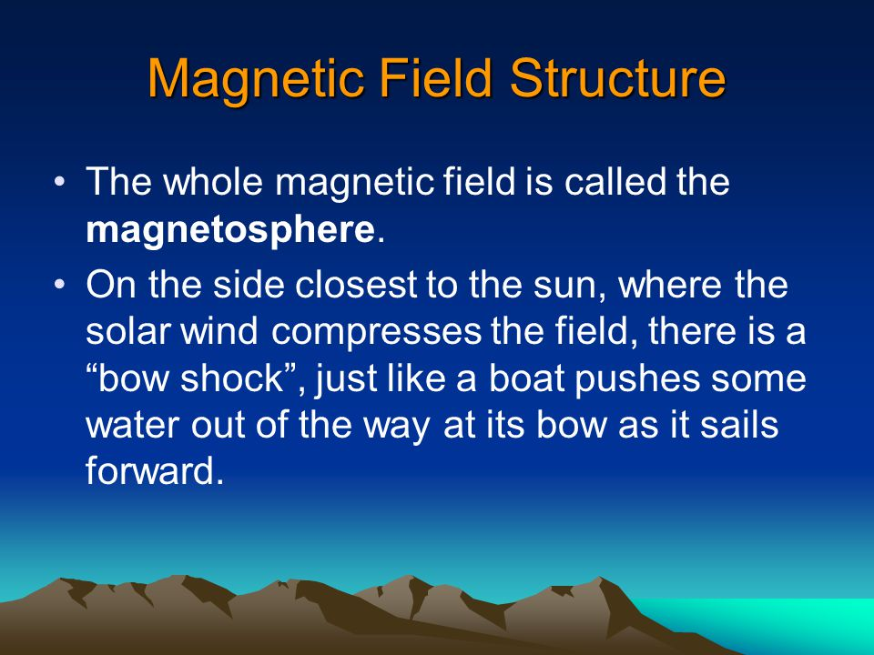 Magnetic Fields in Space Earth's magnetic field extends 7-10 times the earth's diameter outward from the earth. The earth's magnetic field would be sp