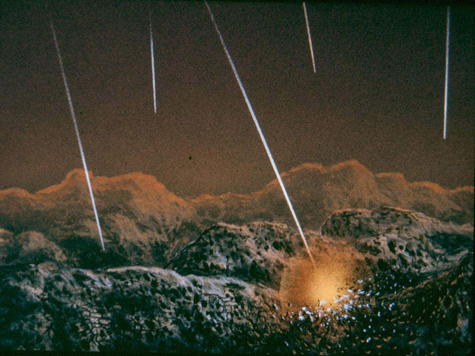 Where did the atmosphere come from? Some water and gases were contributed by comets, meteors, and other planetissimals impacting on earth's surface.