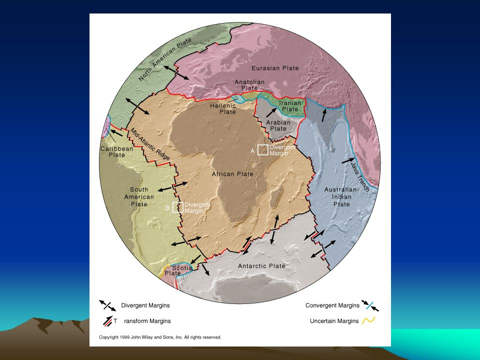 Earth's Geology Earth also has larger-scale processes that other planets don't have: plate tectonics. Earth's crust is divided up into about 20 large