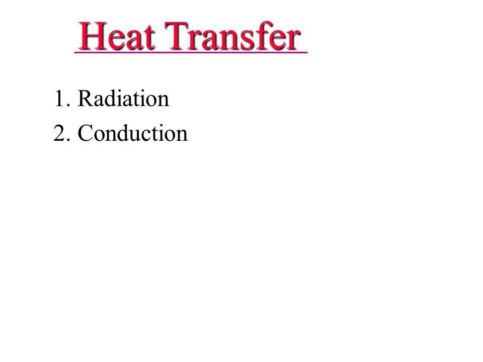 Heat Transfer 1. Radiation 2. Conduction