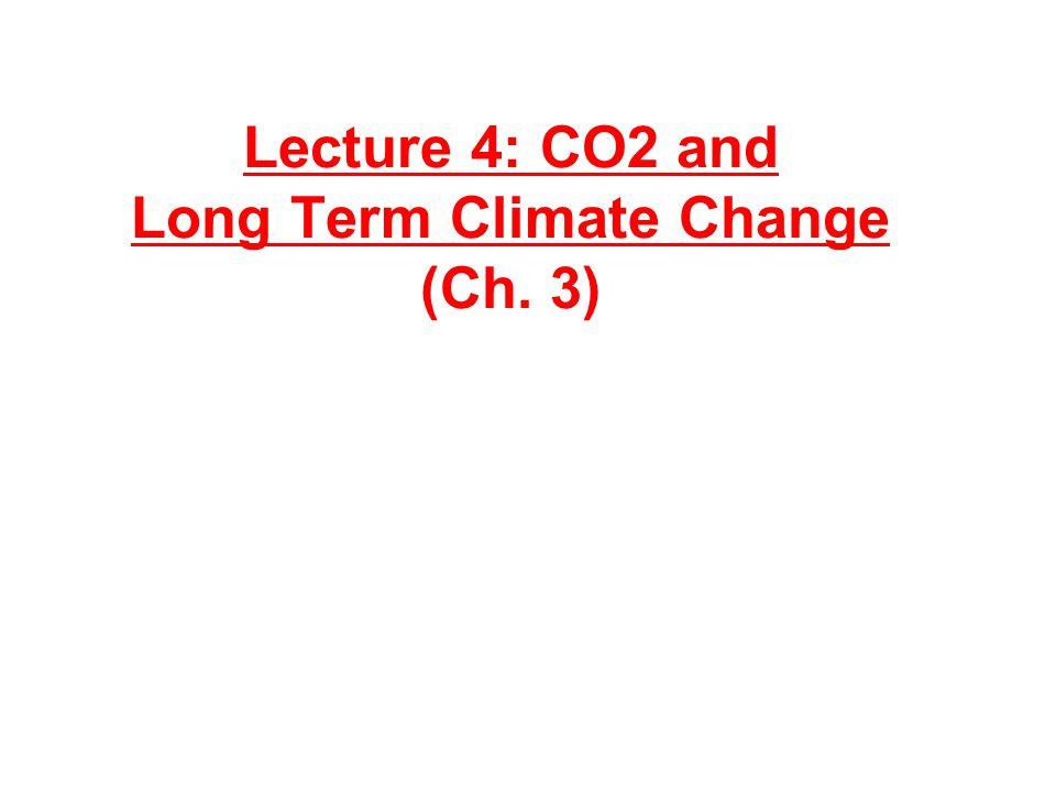 Atmospheric CO 2 Evolution