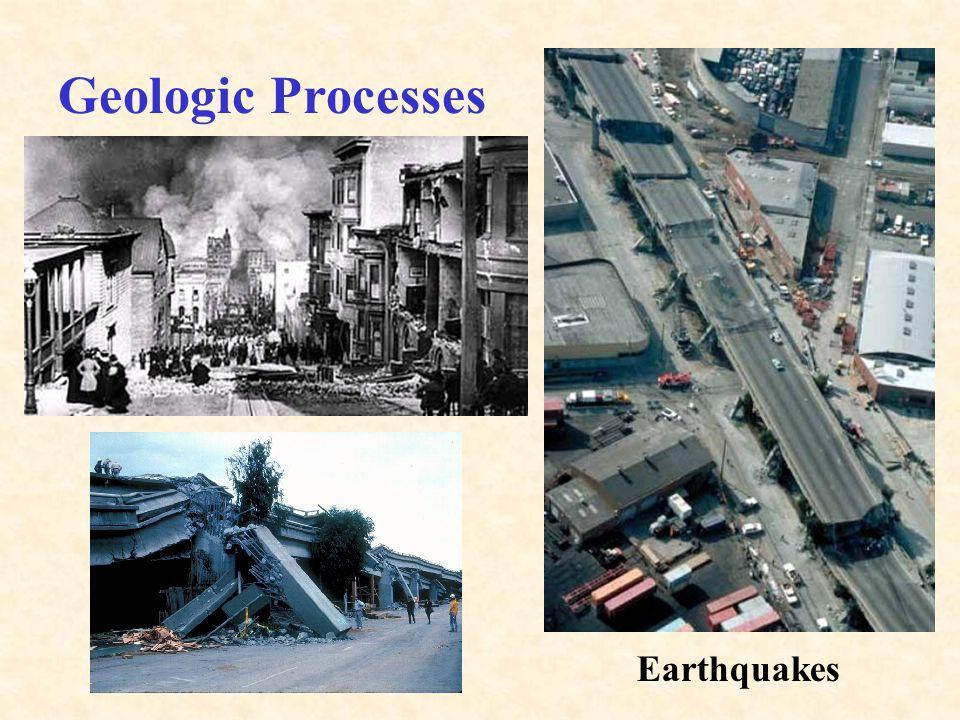 Geologic Processes Meteorites Plate Tectonics (Mountain Building)