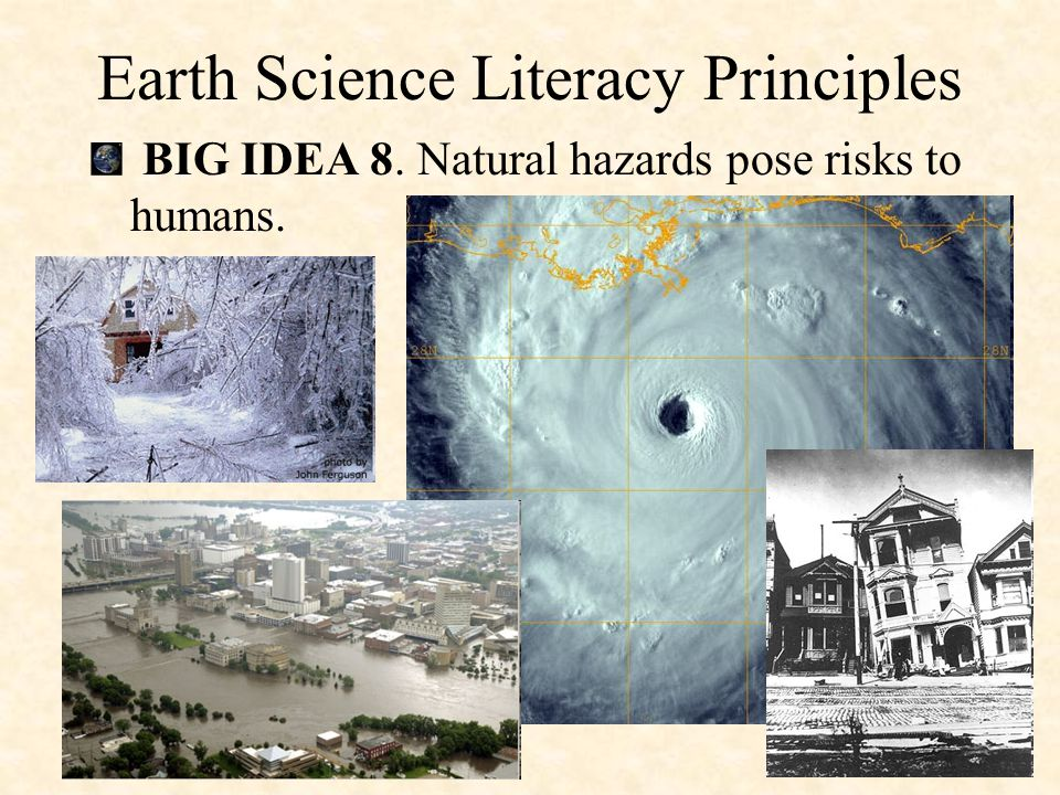 BIG IDEA 7. Humans depend on Earth for resources. Earth Science Literacy Principles