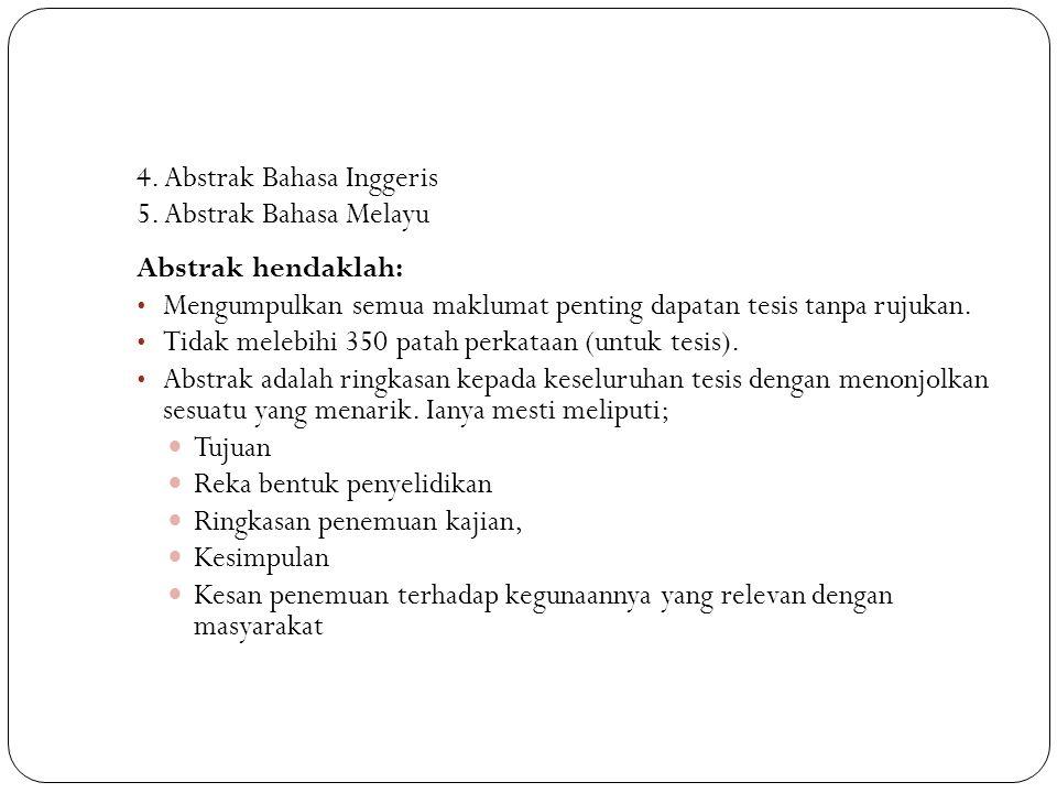 4.Abstrak Bahasa Inggeris 5.