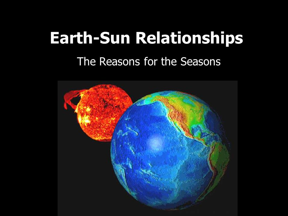 Earth-Sun Relationships The Reasons for the Seasons