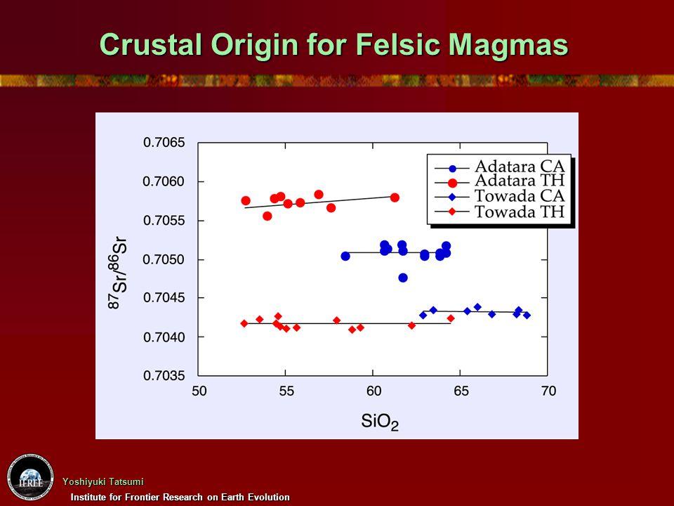 Institute for Frontier Research on Earth Evolution Yoshiyuki Tatsumi Crustal Origin for Felsic Magmas