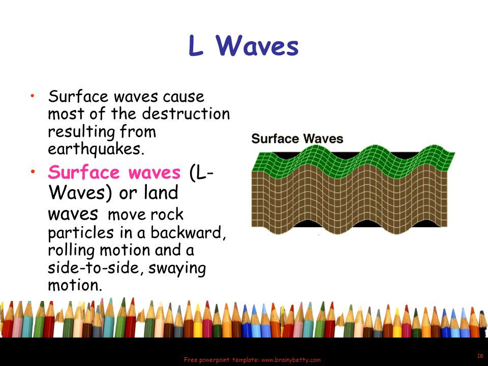 Free powerpoint template: www.brainybetty.com 17 How are seismic waves measured.