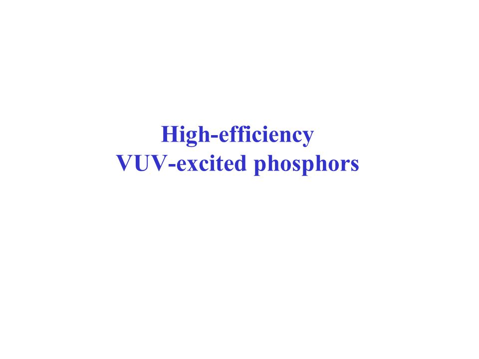 High-efficiency VUV-excited phosphors