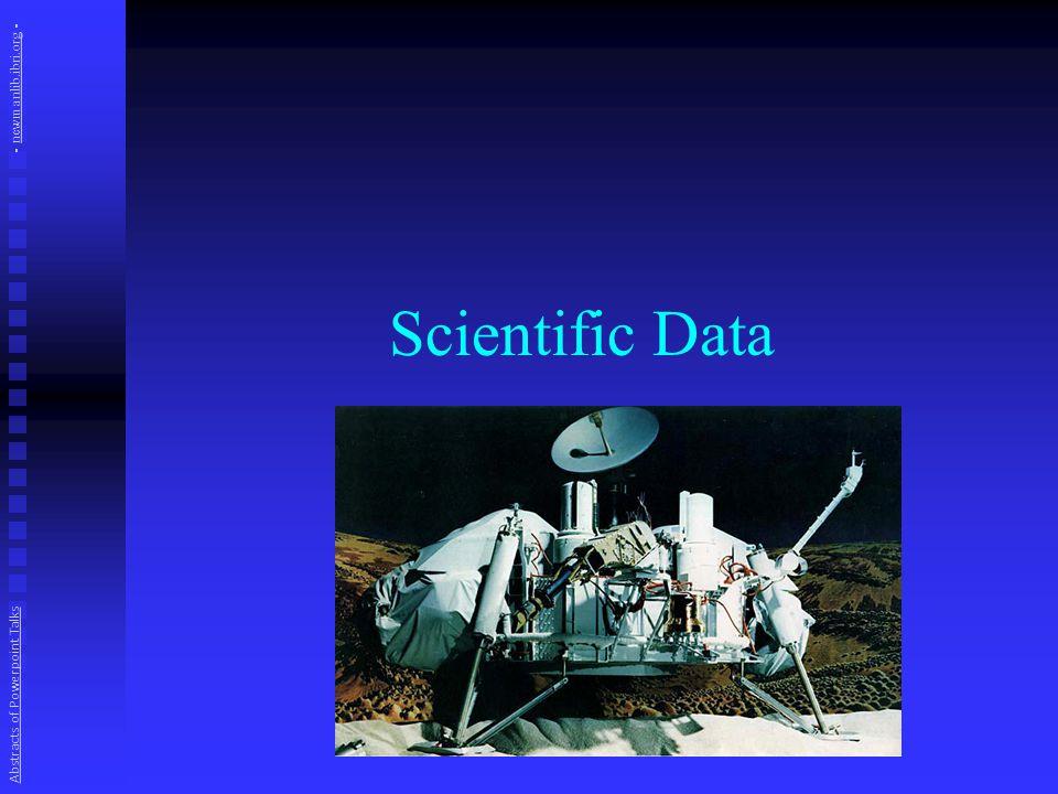 Scientific Data Abstracts of Powerpoint Talks - newmanlib.ibri.org -newmanlib.ibri.org