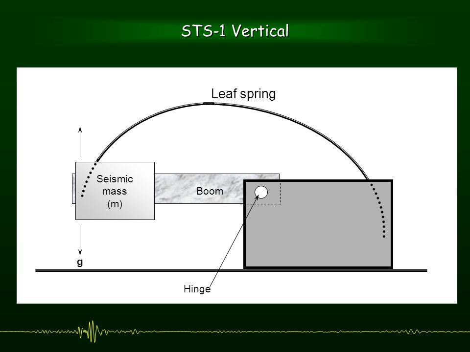 Hinge Leaf spring Boom Seismic mass (m) g