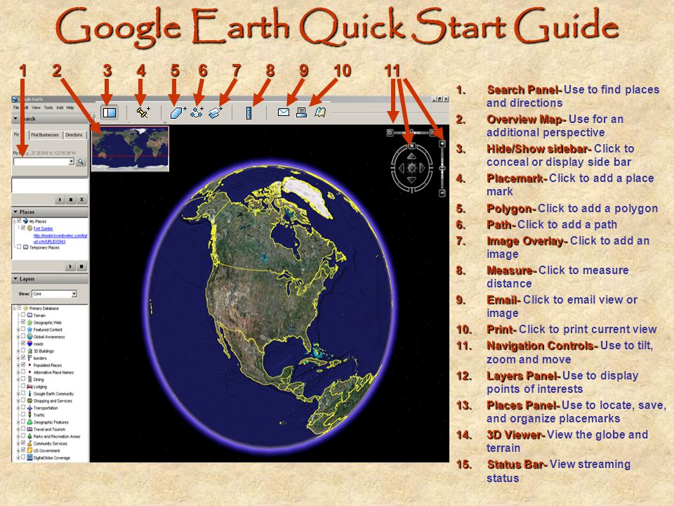 Creating A Place mark A place mark allows viewers to travel to places in Google Earth as they are assigned in the project folder.
