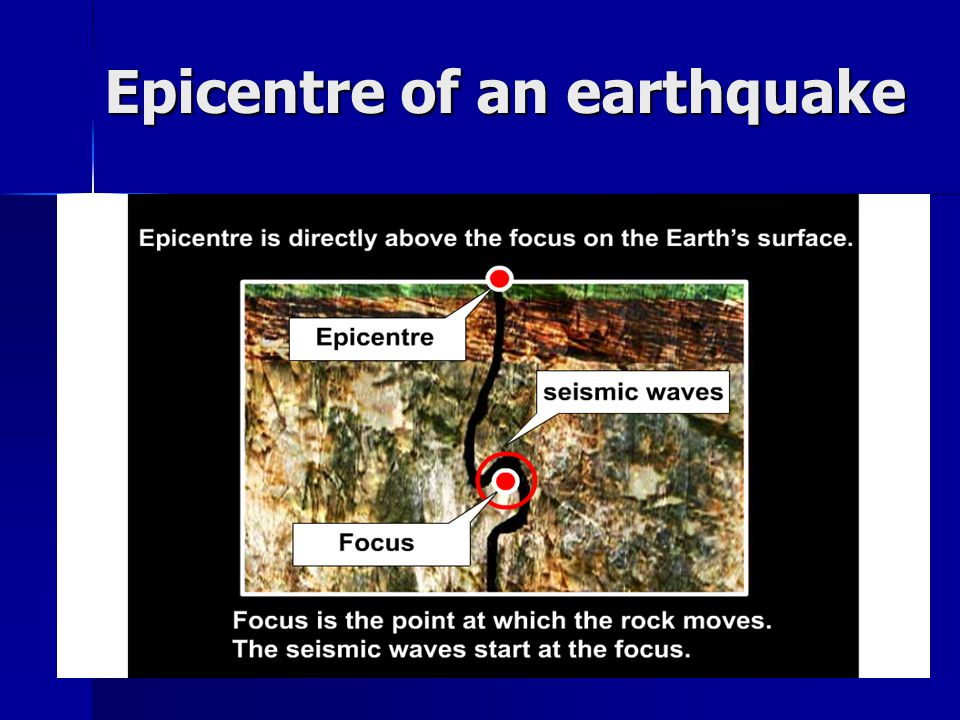 Epicentre of an earthquake