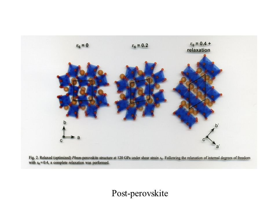 Post-perovskite